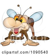 Clipart Friendly Fly Royalty Free Vector Illustration