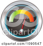 Clipart 3d Speedometer With A Colorful Bar Royalty Free Vector Illustration