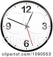 Clipart 3d Red White And Black Wall Clock Royalty Free