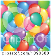 Clipart Seamless Colorful Party Balloon Background Royalty Free Vector Illustration