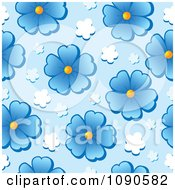 Clipart Seamless Blue Daisy Background Royalty Free Vector Illustration by visekart