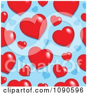 Clipart Seamless Red And Blue Heart Pattern Royalty Free Vector Illustration by visekart