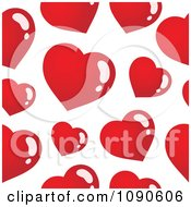 Clipart Seamless Red Heart Pattern Royalty Free Vector Illustration
