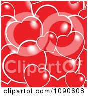 Clipart Seamless Red And White Heart Pattern Royalty Free Vector Illustration