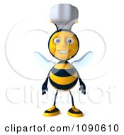Clipart 3d Chef Bee Standing Royalty Free CGI Illustration