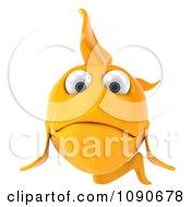 Clipart 3d Sad Yellow Fish Royalty Free CGI Illustration