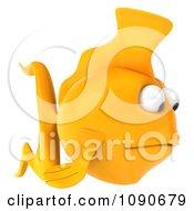 Clipart 3d Sad Yellow Fish Facing Right Royalty Free CGI Illustration