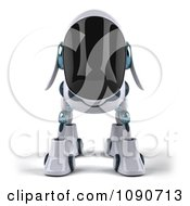 Clipart 3d Robotic Dog Facing Front Royalty Free CGI Illustration