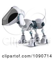 Clipart 3d Robotic Dog Facing Left Royalty Free CGI Illustration by Julos
