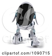 Clipart 3d Robotic Dog Walking Forward Royalty Free CGI Illustration