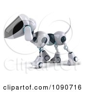 Clipart 3d Robotic Dog Walking Left Royalty Free CGI Illustration