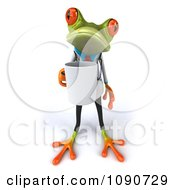 Clipart 3d Doctor Springer Frog With A Coffee Mug Royalty Free CGI Illustration