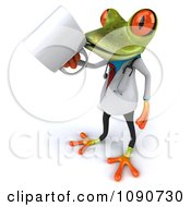Clipart 3d Doctor Springer Frog Sipping From A Coffee Cup Royalty Free CGI Illustration