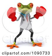 Clipart 3d Doctor Springer Frog Fighting With Boxing Gloves 1 Royalty Free CGI Illustration
