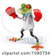 Clipart 3d Doctor Springer Frog Fighting With Boxing Gloves 2 Royalty Free CGI Illustration