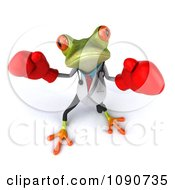Clipart 3d Doctor Springer Frog Fighting With Boxing Gloves 3 Royalty Free CGI Illustration