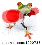 Clipart 3d Doctor Springer Frog Punching With Boxing Gloves 3 Royalty Free CGI Illustration
