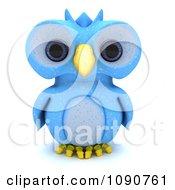 3d Blue Owl