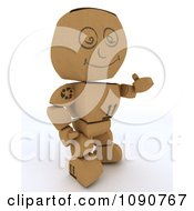 Clipart 3d Cardboard Box Man Holding A Thumb Up Royalty Free CGI Illustration by KJ Pargeter