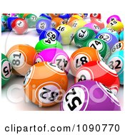 Clipart 3d Colorful Bingo Lottery Balls Royalty Free CGI Illustration by KJ Pargeter