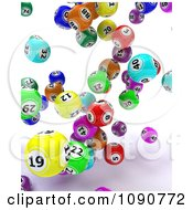Clipart 3d Colorful Falling Bingo Balls Royalty Free CGI Illustration by KJ Pargeter