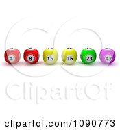 Clipart 3d Lottery Or Bingo Balls Lined Up In Order Royalty Free CGI Illustration by KJ Pargeter