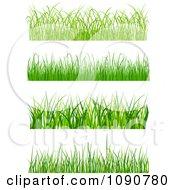 Clipart Set Of Grassy Borders Royalty Free Vector Illustration