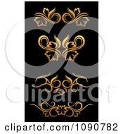 Clipart Golden Flourish Rule And Border Design Elements 4 Royalty Free Vector Illustration