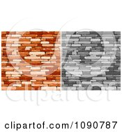 Clipart Grayscale And Rich Brown Walls Of Stacked Stones Or Bricks Royalty Free Vector Illustration by Vector Tradition SM