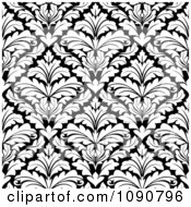 Clipart Black And White Triangular Damask Pattern Seamless Background 2 Royalty Free Vector Illustration