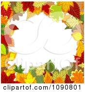 Clipart Autumn Leaf Border Around Copyspace Royalty Free Vector Illustration
