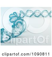 Clipart 3d Blue Glass Dna Spiral Strand Royalty Free CGI Illustration by Mopic