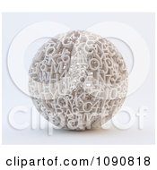 Clipart 3d Sphere Formed Of Letters And Numbers Royalty Free CGI Illustration by Mopic