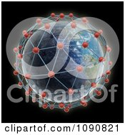 Clipart 3d Earth Surrounded By World Network Connections Royalty Free CGI Illustration