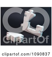Clipart 3d Broken Or Unassembled Puzzle House Royalty Free CGI Illustration