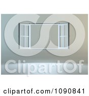 Clipart 3d Open Window On A Gray Wall Royalty Free CGI Illustration by Mopic