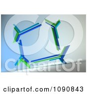 3d Blue And Green Futuristic Frame