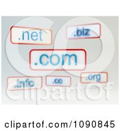 Clipart 3d Web Address Domain Extension Panels Royalty Free CGI Illustration