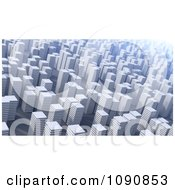 Clipart 3d Cityscape Of White Highrises Royalty Free CGI Illustration by Mopic