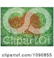 ClipartMeadow Of 3d Flowers With A Red Heart Of Blossoms Royalty Free CGI Illustration