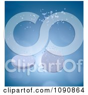 Clipart 3d Fizzing Tablets Sinking In Water Royalty Free CGI Illustration