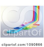 Clipart 3d Rainbow Lines Curving Upwards With Circle Tips Royalty Free CGI Illustration