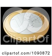 Clipart 3d Euro Coin On Black Royalty Free CGI Illustration by Mopic