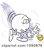Clipart Moodie Character Dropping The Ball Royalty Free Vector Illustration