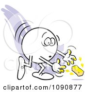 Clipart Moodie Character With Butter Fingers Royalty Free Vector Illustration