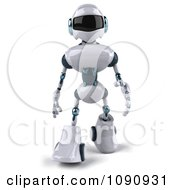 Clipart 3d Techno Robot Walking 1 Royalty Free CGI Illustration