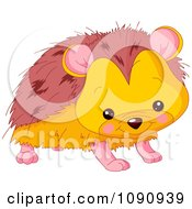 Clipart Cute Baby Zoo Hedgehog Royalty Free Vector Illustration by Pushkin