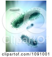 Clipart 3d Macro View Of Green Bacteria Royalty Free CGI Illustration