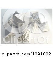 Clipart 3d Pearly White Pyramids Royalty Free CGI Illustration