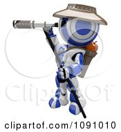Clipart 3d Scout Robot And Telescope Royalty Free CGI Illustration by Leo Blanchette